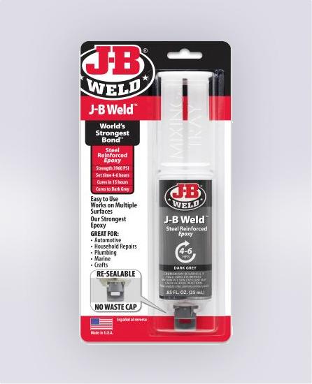 J-B WELD™ SYRINGE - 25 ML (SKU: 50165)