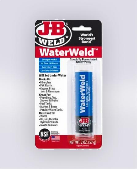 WATERWELD™ EPOXY PUTTY - 2 OZ (SKU: 8277)
