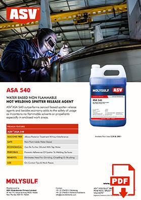 ASA 540 Welding Spatter Release 2020